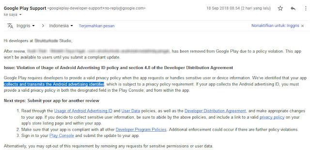 Aplikasi android di google play store dihapus google