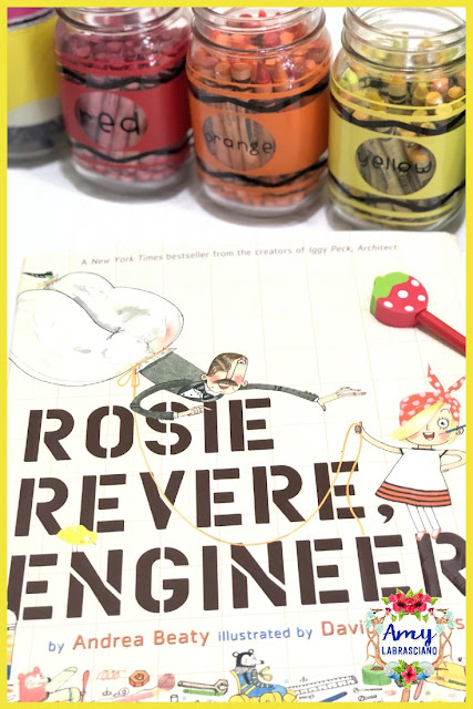 Click here to find ideas on launching STEM, engineering and learning to overcome failure in the classroom.  Included are ideas and  an anchor chart for the very engaging books Rosie Revere Engineer and The Most Magnificent Thing.  Get your back to school lesson plans ready.   Perfect for elementary classrooms and homeschool children.  {kindergarten, first, second, third, fourth and fifth, k, 1st, 2nd, 3rd, 4th, 5th}