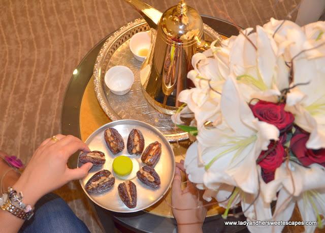 Al Raha Beach Hotel dates and coffee