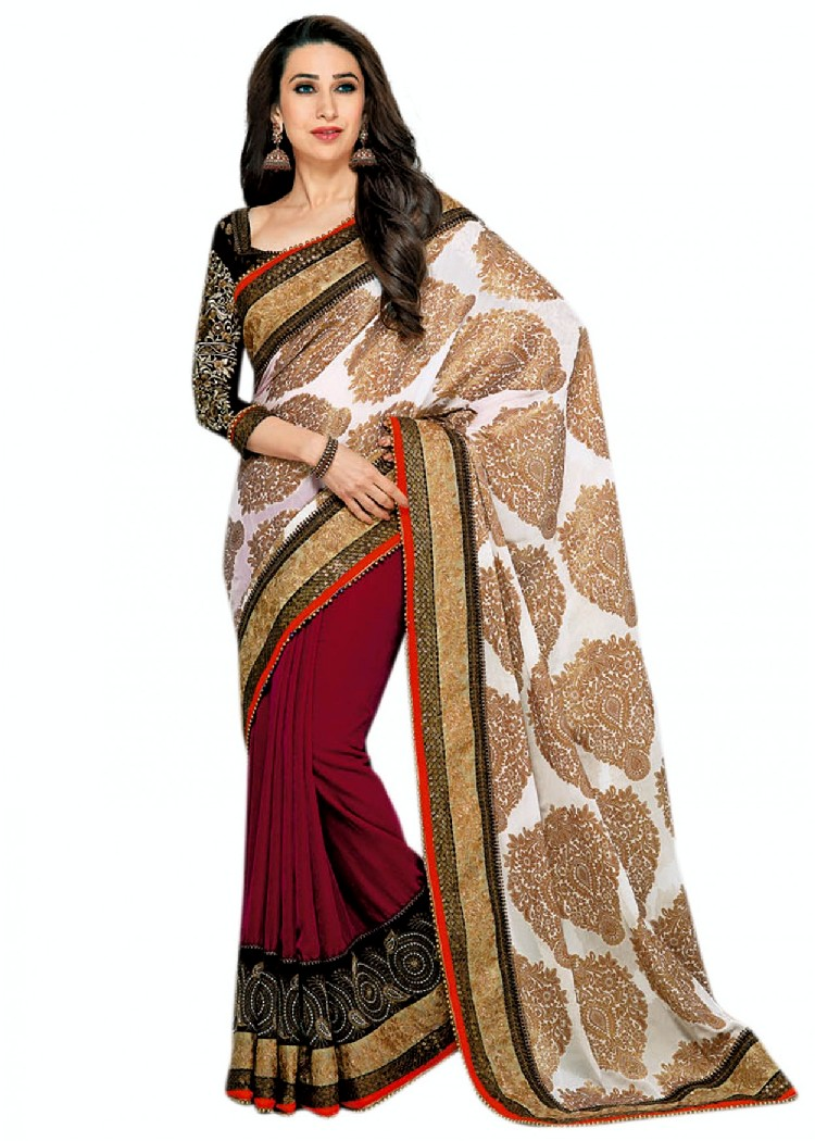 saree karishma kapoor sarees designer party indian pakistani wear traditional designs india fashions velvet unique bollywood choose fashionable website