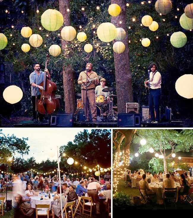 Backyard Wedding Decorating Ideas picture