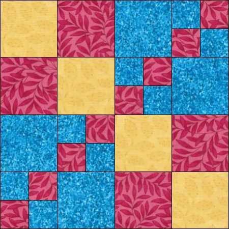 Four patch blok variatie