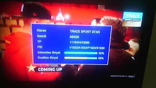 Trace Sport Star HD FTA di ABS ku Band, Ini Frekwensinya