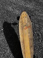 Longboard mit BVBK Jugendausstellung Logo