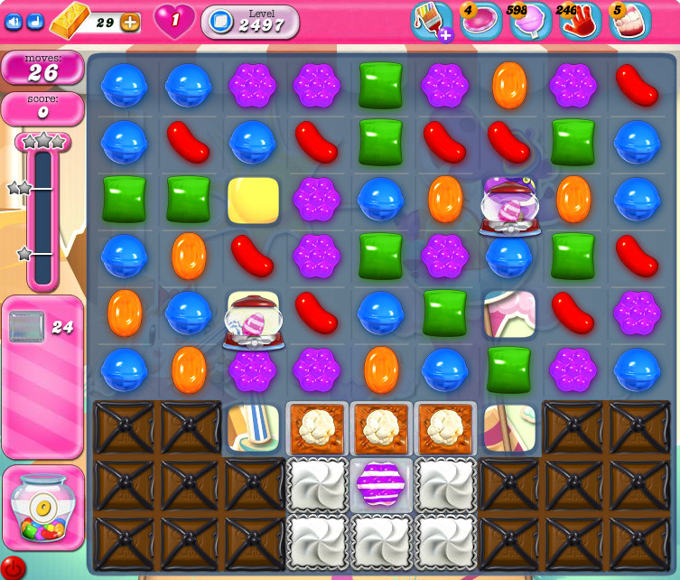 Candy Crush Saga level 2497