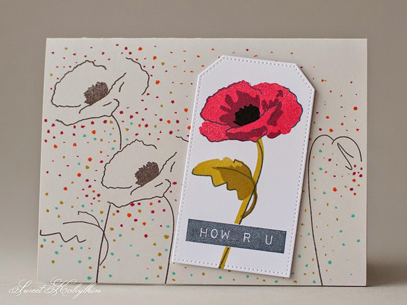 Greeting Card with Painted Poppies from Altenew by Sweet Kobylkin