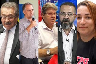 Candidatos ao Governo da Paraíba realizam comícios pelo estado nesta sexta-feira