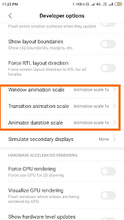 Disable Animations