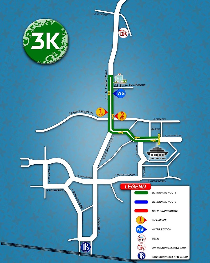 3K Bandung Edu Fin Run • 2019