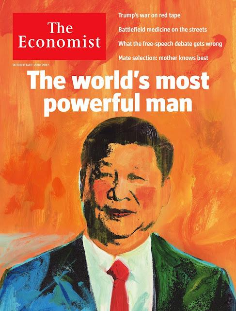 O presidente da China, Xi Jinping, é atualmente o homem mais poderoso do mundo, e isso é motivo de preocupação, segundo a revista The Economist.