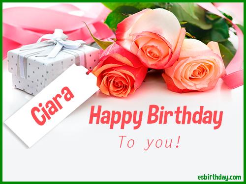 Happy Birthday Ciara