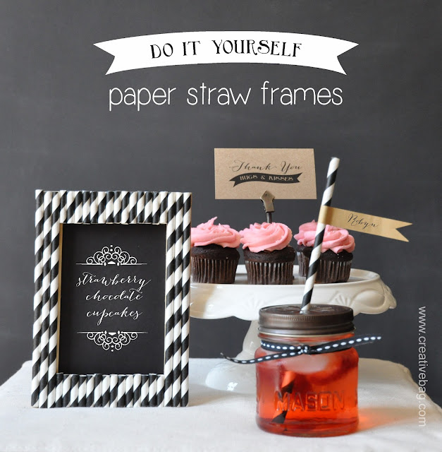 paper straw frame tutorial from creativebag.com