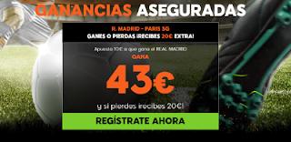 888sport ganancias aseguradas Real Madrid vs PSG 14 febrero