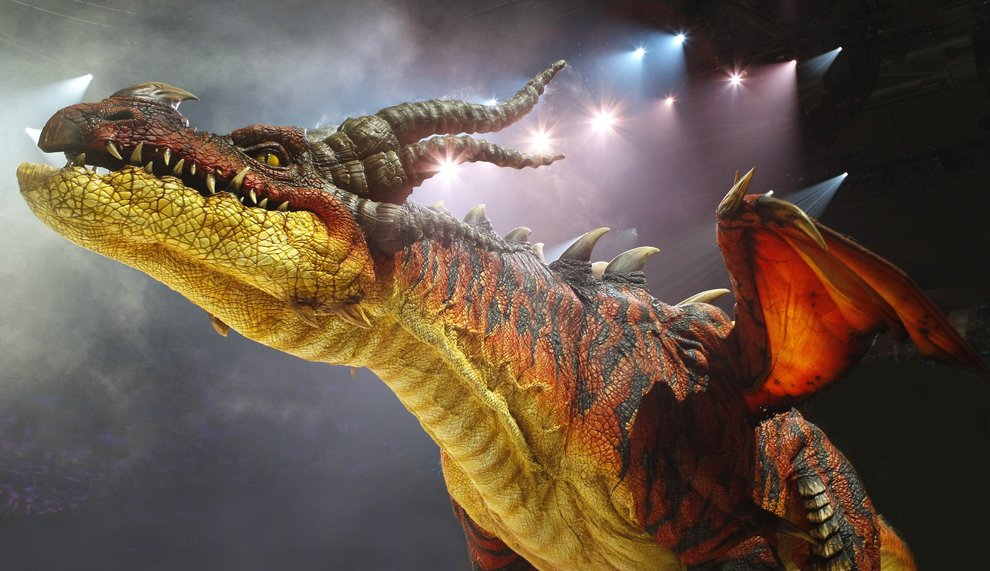 A dragon from How to Train Your Dragon Live 2012 animatedfilmreviews.blogspot.com