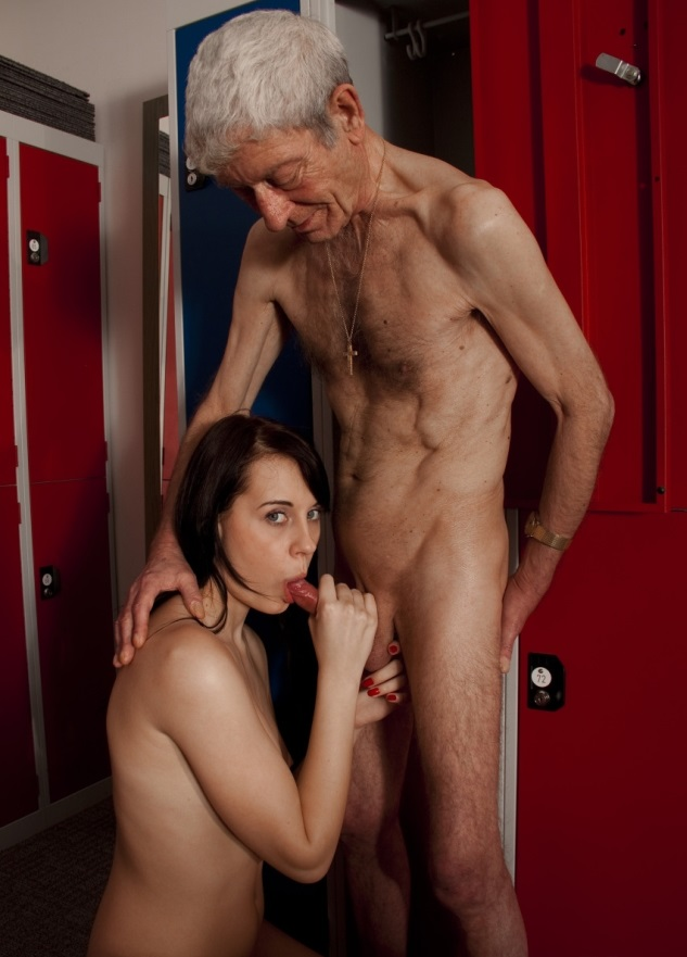 Big Boob Brunette Cutie Lets An Old Man Pound Her Pussy