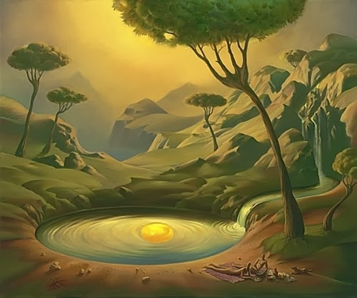 01-Breakfast-on-the-Lake-Vladimir-Kush-Surreal-Lands-Paintings-www-designstack-co
