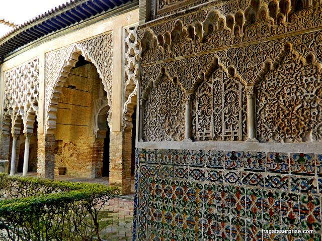 Pátio de Gesso, no Real Alcázar de Sevilha
