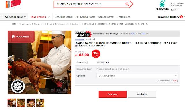Citarasa Kampung Buffet di Swiss Garden Hotel and Ressidence Kuala Lumpur Hanya RM65
