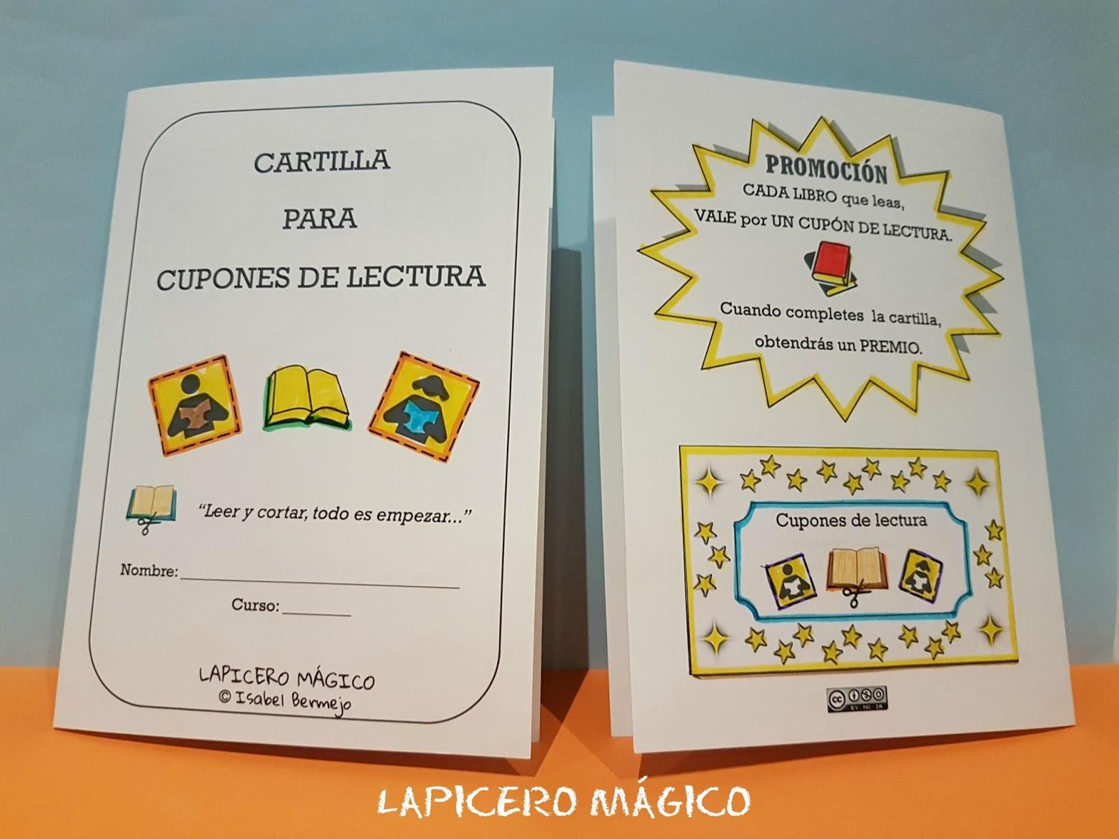 LAPICERO MÁGICO: Cartilla Para Cupones De Lectura