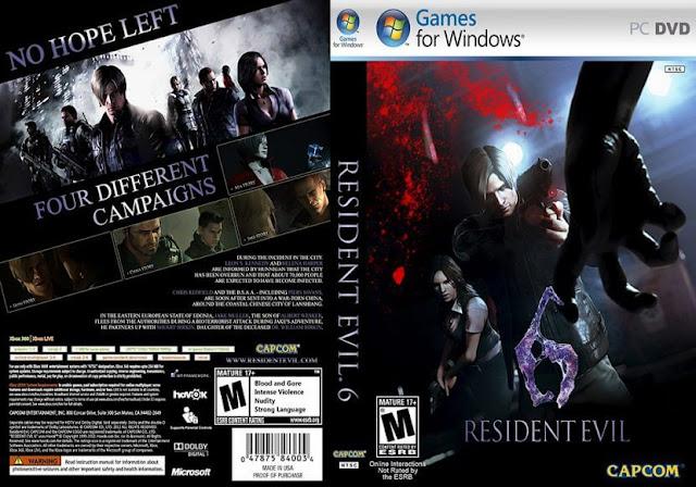 โหลดเกมส์ PC Resident Evil 6 FULL ลิ้งเดียว