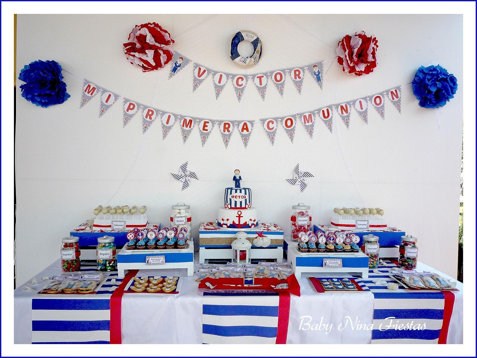 Baby nina fiestas mayo 2015 for Mesa dulce marinera
