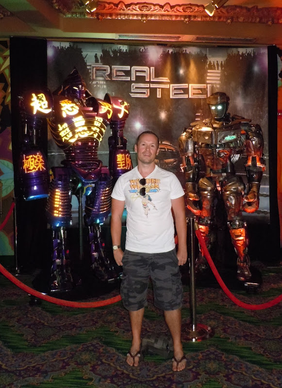 Jason with Real Steel animatronic robots