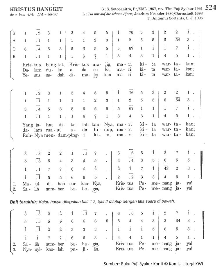 Lirik Dan Chord Lagu Kristus Bangkit