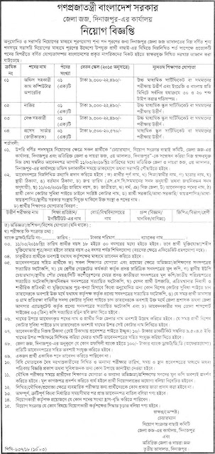 Additional District Judge's Office Job Circular 2018 BD Jobs Circular Requirements