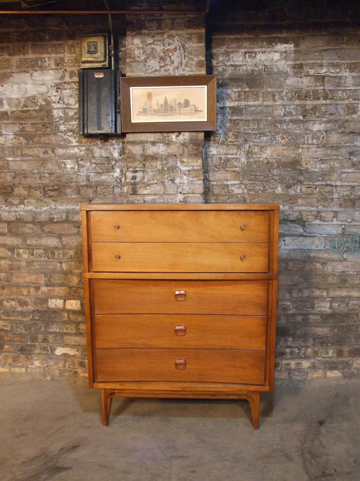 Mid Century Chicago: Johnson Carper Highboy Dresser