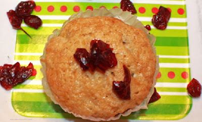 Cranberry Orange  Zucchini Muffins