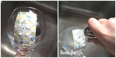 DIY Craft Tutorial How etch monogram on wine glasses using etching cream.