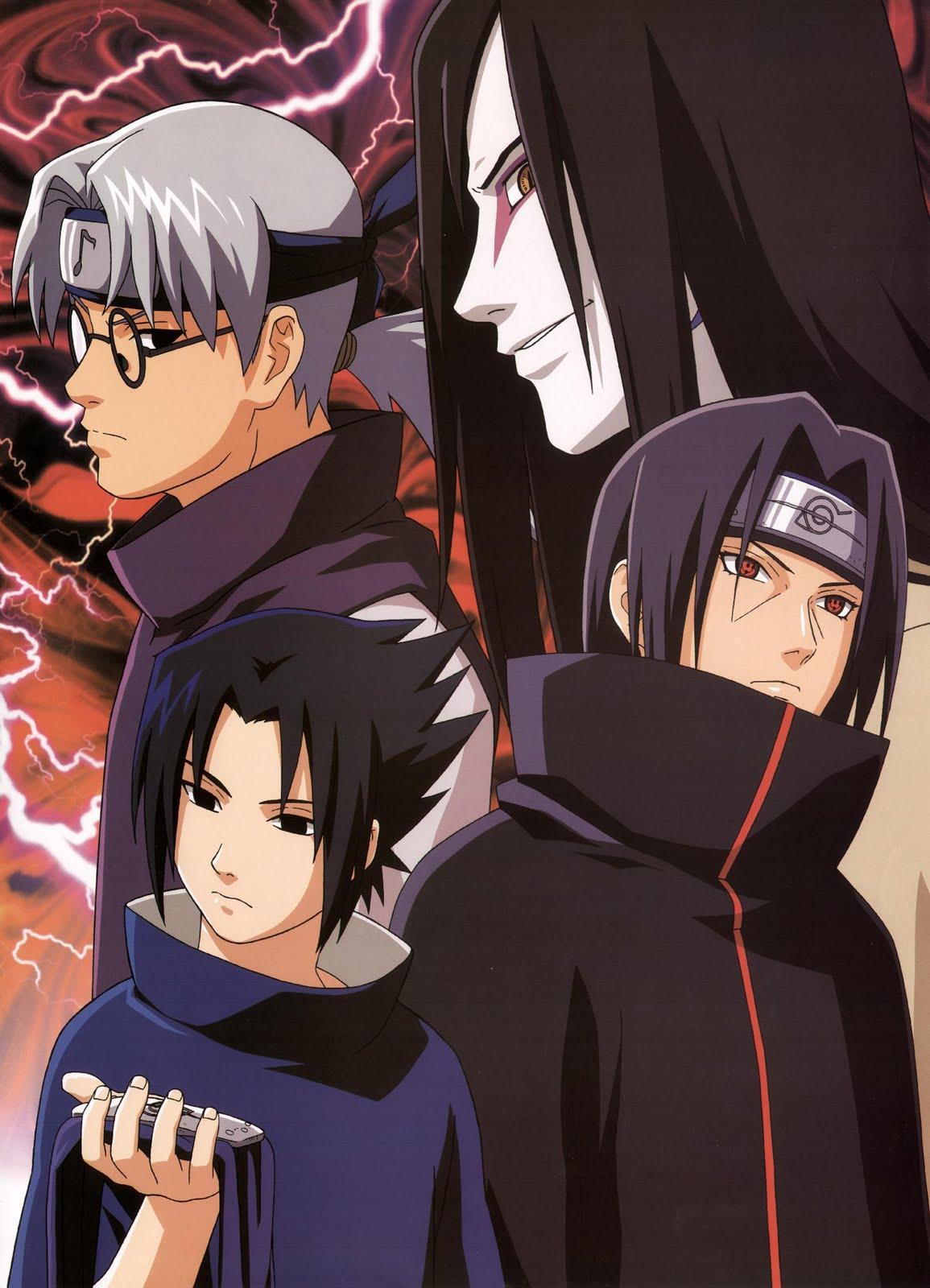 AnimeWapers com+34385+male+naruto+orochimaru+uchiha itachi+uchiha sasuke+yakushi kabuto