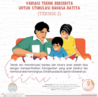 VARIASI TEKNIK BERCERITA UNTUK STIMULASI BAHASA BATITA (TEKNIK 2)