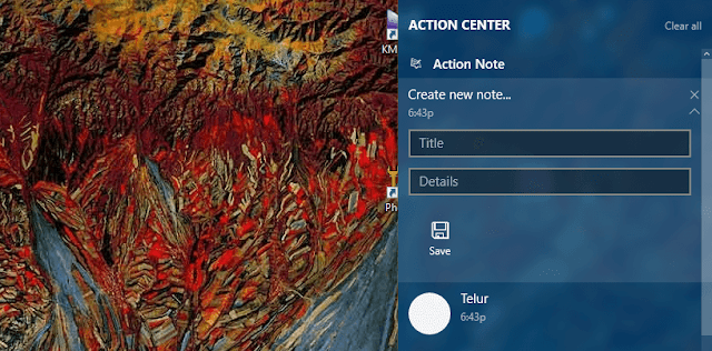 Cara Cepat Buat Notes Langsung Nempel di Action Center Windows 10