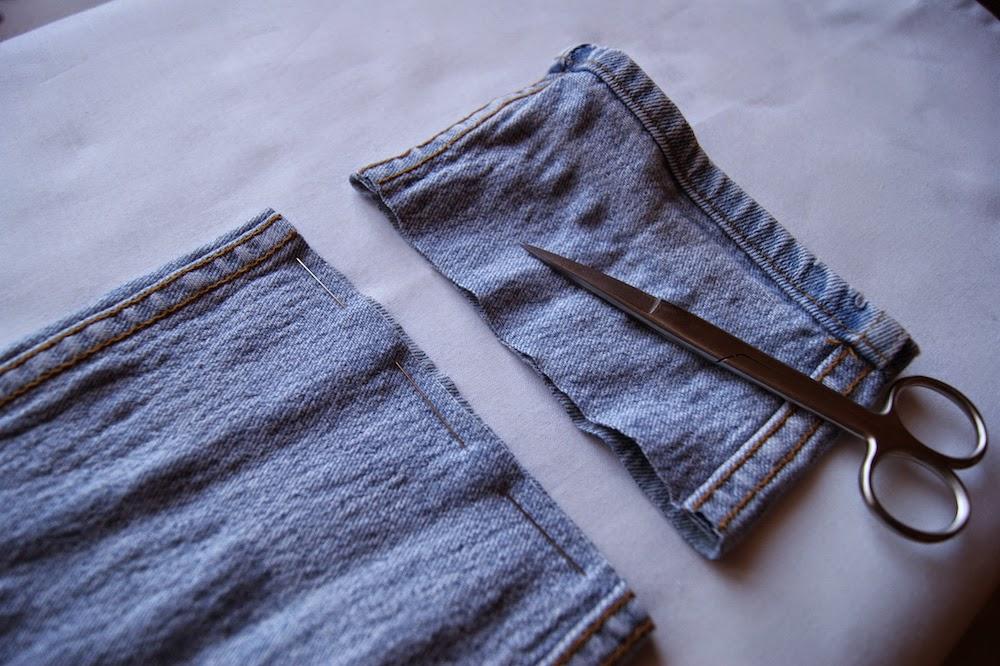 jak skrócić samemu spodnie jeansy skracanie przeróbki szycie diy