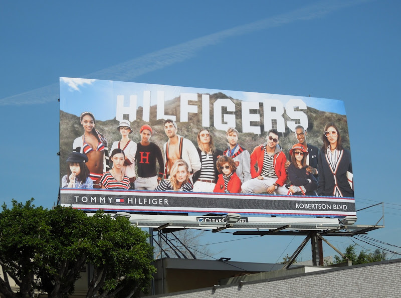 Hilfigers Hollywood Sign billboard Robertson Boulevard