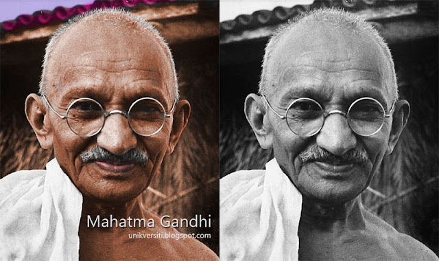 Mahatma Gandhi in colour