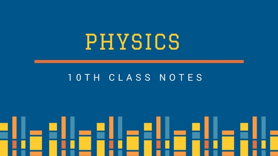 10th Class Physics Notes (New Syllabus FBISE) | Top Study World