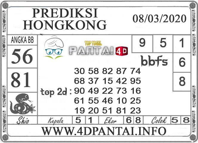 PREDIKSI TOGEL HONGKONG PANTAI4D 08 MARET 2020