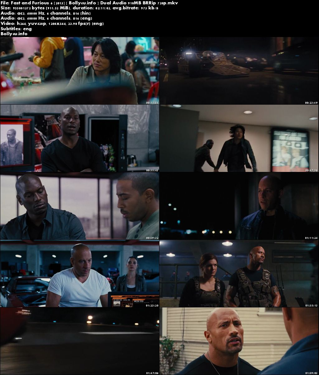 Fast And Furious 6 2013 Brrip 400mb Hindi Dual Audio 480p