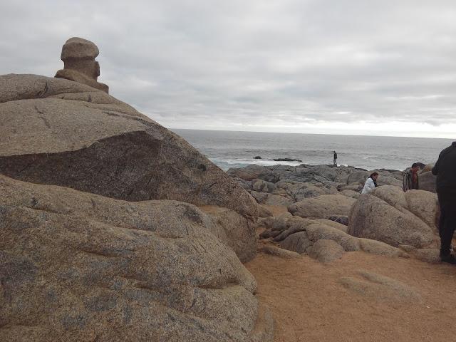 Playa de Isla Negra en Chile