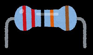 抵抗器のイラスト(5本)