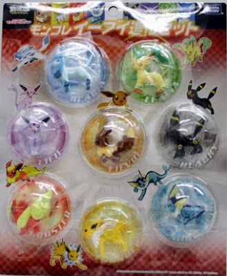 Glaceon figure Takara Tomy MC Eevee evolution 8pcs set