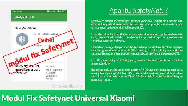 yuuk... Berkenalan dengan Safetynet berserta module fix safetynet Universal Xiaomi