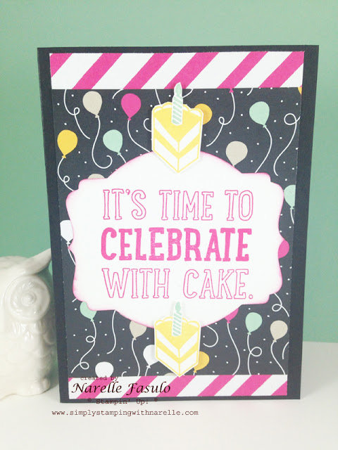 Party With Cake - It's My Party DSP - Simply Stamping with Narelle - available here - http://www3.stampinup.com/ECWeb/default.aspx?dbwsdemoid=4008228