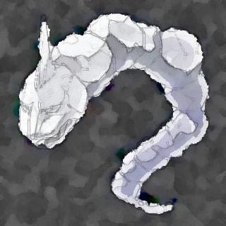 水彩画のイワーク(ポケモン)