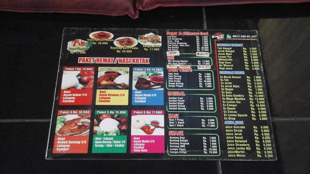 berbagai menu pilihan di dapur dewi kahyangan surabaya