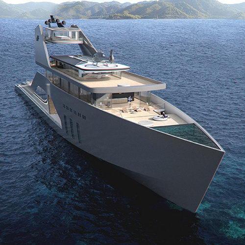 Tinuku Super Yacht 108M Mono Hull Klasik dari Hareide Design dan Pantai Pribadi