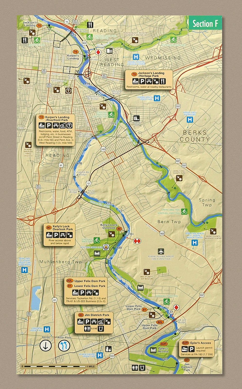 enlarged action maps and text guidance through the more difficult river features and photos quotes and illustrations that add to the story of that