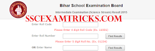BSEB 12THClass RESULT 2015